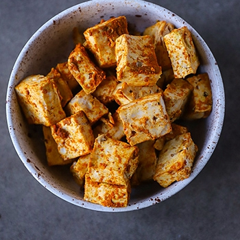 [Oil-Free] Baked Curry Tofu
