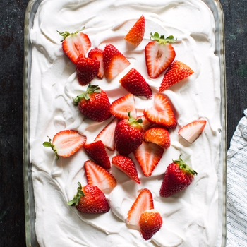 Strawberry Rhubarb Tres Leches Cake Recipe