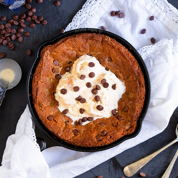 Egg Free Chocolate Chip Skillet Cookie