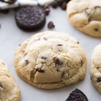 Jumbo Oreo Stuffed Chocolate Chip Cookies