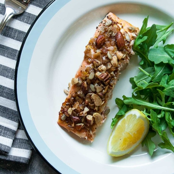 Grain Free Granola Crusted Salmon