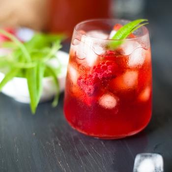 Raspberry and Verbena Iced Tea