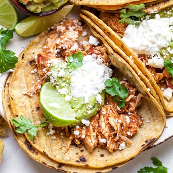 Crockpot Chicken Tacos (Mexican Chicken)
