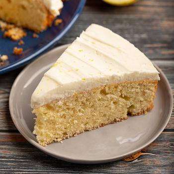 One Layer Lemon Sour Cream Cake