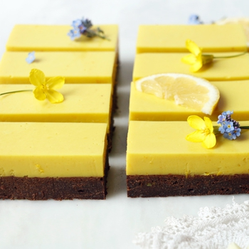 Earl Grey Brownies with Lemon Panna Cotta (vegan & gluten-free)