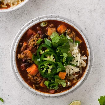 Slow Cooker Turkey Chili with Sweet Potatoes