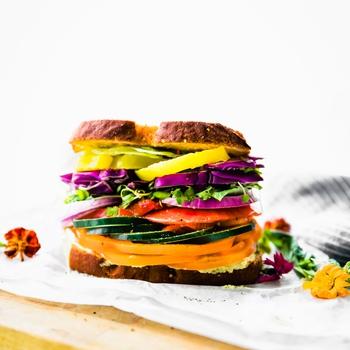 The Ultimate Farmer's Market Veggie Sandwich