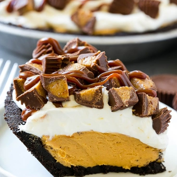 Chocolate Peanut Butter Pie (No Bake)