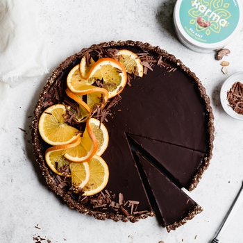 Vegan Orange Chocolate Ganache Tart (Gluten Free)