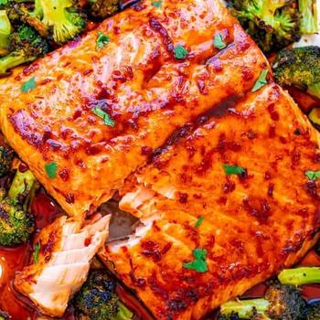 Sheet Pan Asian Salmon and Broccoli