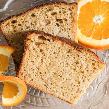 Healthy Boozy Orange Pound Cake