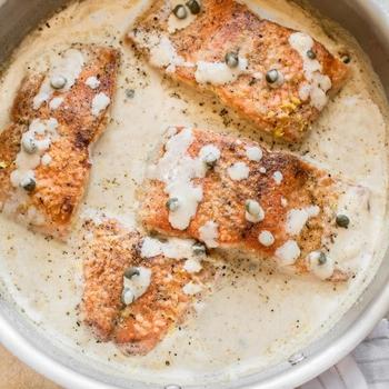 20 Minute Creamy Salmon Piccata