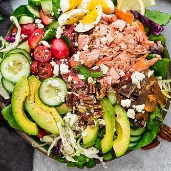 Salmon Cobb Salad – Low Carb, Keto