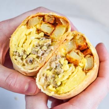 Crispy Air Fryer Breakfast Burritos