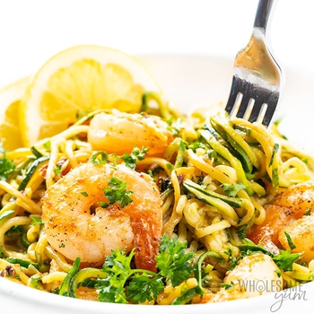 Low Carb Keto Shrimp Scampi With Zucchini Noodles