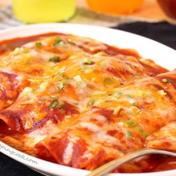 Easy Homemade Chicken & Cheese Enchiladas