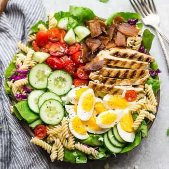 Grilled Chicken Cobb Pasta Salad