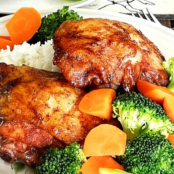 Asian chicken thighs – Quick and easy oven baked