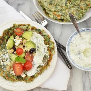 Spinach and Yogurt Flatbreads