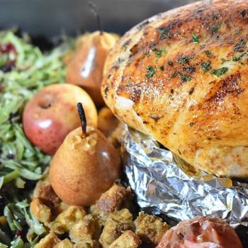 Elegant One Pan Turkey Dinner