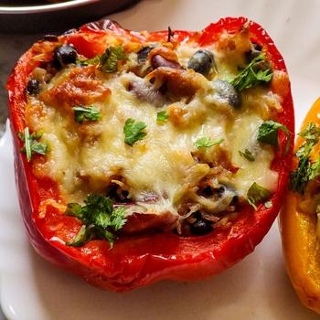 Vegetarian stuffed bell peppers