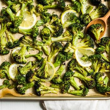 Oven Roasted Lemon Herb Broccoli