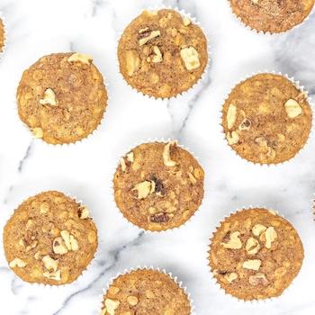 Banana Walnut Oatmeal Muffins