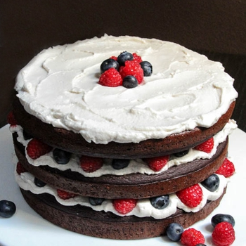 Patriotic Paleo Chocolate Cake