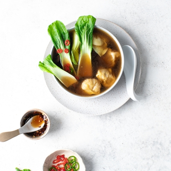 Chinese Soup With Beef & Carrot Dumplings