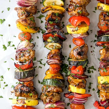 The Best Ever Balsamic Grilled Chicken Kabobs