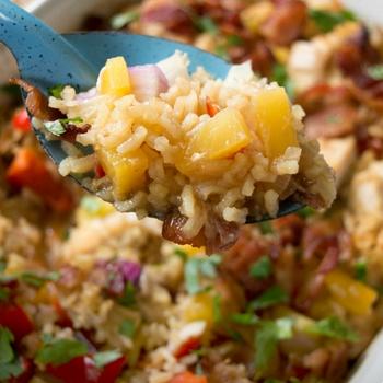 Aloha Pineapple Chicken Rice Casserole