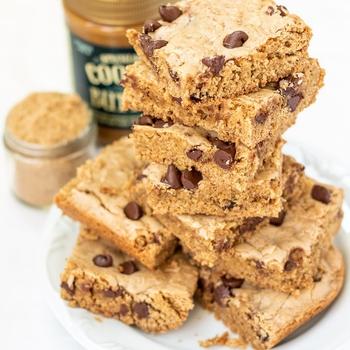 Cookie Butter Chocolate Chip Blondies (aka Cookie Casserole)