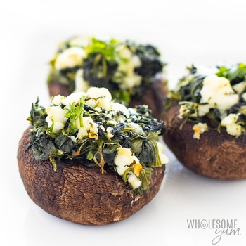 Low Carb Spinach Stuffed Mushrooms