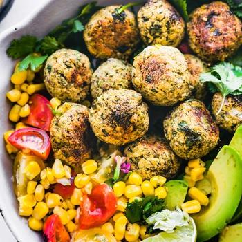 Mexican Vegan Falafel Balls {Gluten Free}