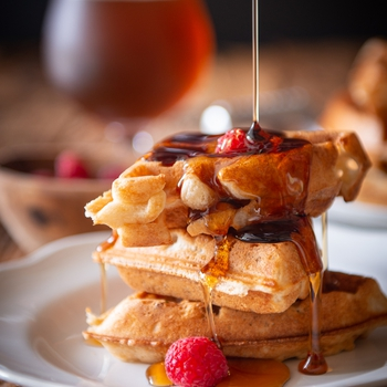 Overnight Sourdough Beer Waffles