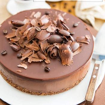 Creamy No-Bake Mocha Chocolate Vegan Cheesecake