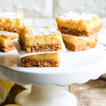 Lemon Bars with Oatmeal Cookie Shortbread Crust