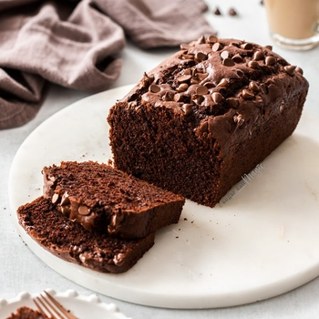 Quick Chocolate Bread (Chocolate Loaf Cake)