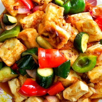 Sweet and sour tofu – Quick & easy vegan