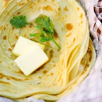 Paratha Kerala Paratha a Layered Flat Indian Bread