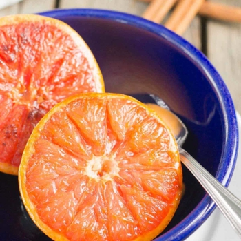 Ginger and Brown Sugar Broiled Grapefruit