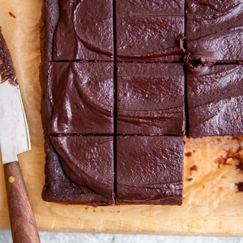 Fudgy Black Bean Brownies with Easy Cacao Frosting (GF, Naturally Sweetened)