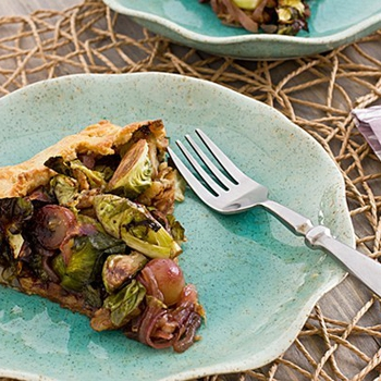 Recipe | Brussel Sprout & Grape Galette