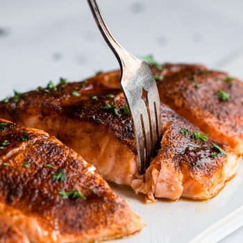 Baked Honey Cajun Salmon