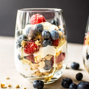 Red, White, and Blue Yogurt Parfait