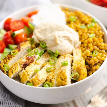 Pressure Cooker Chicken Shawarma Couscous Bowls
