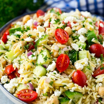 Orzo Salad with Vegetables and Feta
