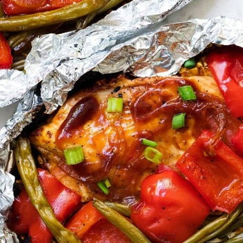 Grilled BBQ Chicken Foil Dinner